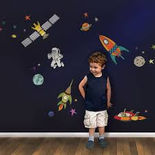 Outer Space Wall Sticker Peel And Stick Repositionable Fabric Stickers