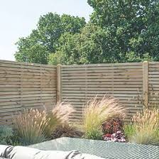 Forest Venhhm6pk4hd Double Slatted Fence Panel 6 X 6 Pack Of 4 In 2020 Slatted Fence Panels Garden Fence Panels Wooden Fence Panels