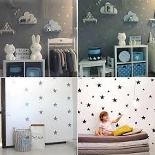 Wall Sticker For Kids Room White Stars Baby Nursery Bedroom Wall Stickers Bedroom Children Wall Decals Art Home Decoration Wall Stickers Aliexpress