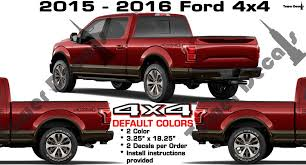 4x4 Bed Side Vinyl Decal 2 Color Sticker For Ford F150 F250 F350 F450 Roe Graphics And Apparel