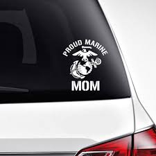 Proud Marine Mom Decal Etsy