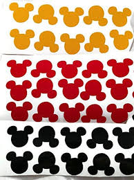 Mickey Mouse Head Stickers Vinyl Decal 1in Mickey Head Etsy