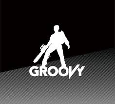 Ash Evil Dead Groovy Army Of Darkness Vinyl Decal Sticker Etsy