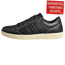 leather shoes trainers navy