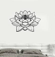 Vinyl Wall Decal Lotus Blossom Flower Yoga Studio Buddha Stickers Ig3233 Ebay