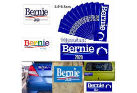 10pcs Set Bernie 2020 Us President Political Bernie Sanders Car Bumper Decal Sticker Car Decals Wish