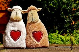 white and brown sheep plush toys
