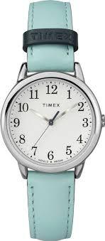 women s timex easy reader light blue