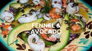 Seafood salad with fennel and avocado ...