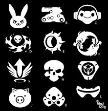 Overwatch Ultimates Vinyl Sticker D Va Bastion Lucio Reaper Junkrat Hanzo Mercy Mccree Tracer Road Overwatch Ultimates Overwatch Decal Gaming Tattoo