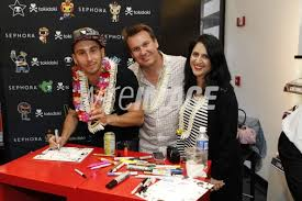 Tokidoki co founders Simone Legno and Ivan Arnold and Pooneh Mohajer...    WireImage   130000988