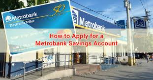 apply for a metrobank savings account