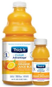 thickened orange juice blend