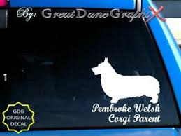 Pembroke Welsh Corgi Mom Dad Parent S Vinyl Decal Sticker Color High Quality Ebay