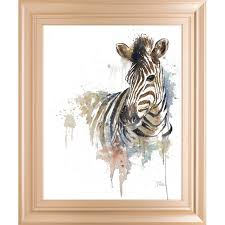 framed watercolor painting print