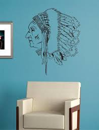 Indian Chief Version 1 Native American Decal Sticker Wall Vinyl Decor Boop Decals