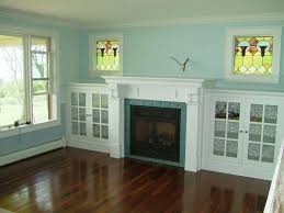 eastlake fireplace and side cabinets
