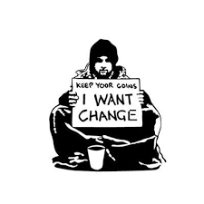 8 Inches Wide Banksy Vinyl Decal Sticker Suitable For Wall Car Door Window Etc Keep Your Coins I Want Change Beggar Home Banksy Street Art Banksy Art