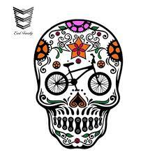Earlfamily Car Stickers Flame Skull Vinyl Window Graphic Car Styling Decal Biker Motorcycle Hd Waterproof Doors Car Accessories Car Stickers Aliexpress