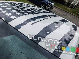 Roof Banner American Flag Style Decal Compatible With Dodge Charger