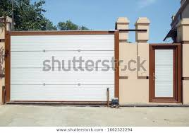 Automatic Electric Rollup Gate Pushup Door Stock Photo Edit Now 1662322294