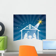 Nativity Scene Wall Decal Wallmonkeys Com