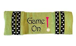 game on green golf cart seat cover