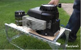 generator from a lawnmower engine