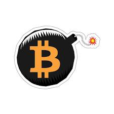Bitcoin Bomb Crypto Stickers Crypto Shopper Crypto Merchandise Bitcoin Stickers What Is Bitcoin Mining