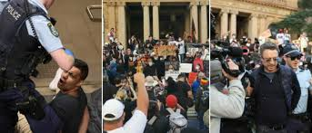 Protesters arrested at Town Hall, rally ...