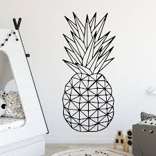 Pineapple Pattern Fruit Design Wall Sticker For Kids Room Decoration Vinyl Self Adhesive Wall Decal Waterproof Art Decor Mural Sticker For Kids Room Wall Stickers For Kidsdesigner Wall Stickers Aliexpress
