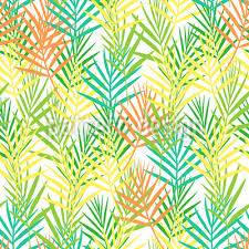 Tropical Leaf Fence Seamless Vector Pattern Design