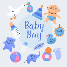 baby shower boy wallpaper with toys