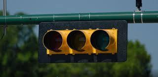 traffic light activated at garden ridge