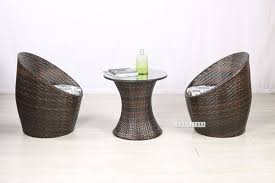 birdnest rattan outdoor 3pc table set