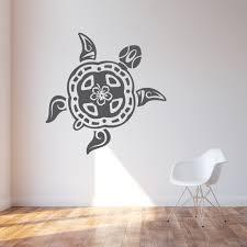 Tribal Turtle Wall Decal Tribal Wall Sticker Wallums