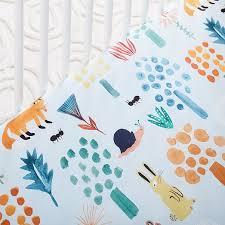 organic woodland crib fitted sheet