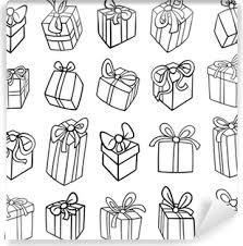 Fotobehang Kerst Cadeau Kleurplaat Pixers We Leven Om Te