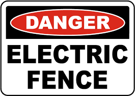 Danger Electric Fence Sign F7540 By Safetysign Com
