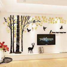 Unitendo Acrylic 3d Tree Wall Stickers Large Wall Decal Easy To Install Apply Diy Decor Sticker Home Art D Tree Wall Stickers Diy Wall Art Decor Wall Stickers