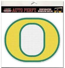 Amazon Com Stockdale Oregon Ducks Perforated Vinyl Window Decal O Logo Yellow With Green Outline Automotive Decals Sports Outdoors