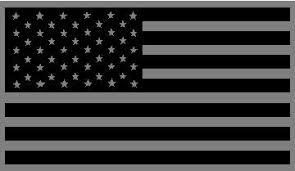Black And Gray American Flag Decal Sticker