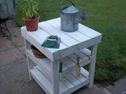 diy pallet garden workbench bbq table