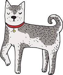 Amazon Com Cute Classic Pen Art Fox Dog Cartoon Gray White Vinyl Decal Sticker All Sizes Automotive