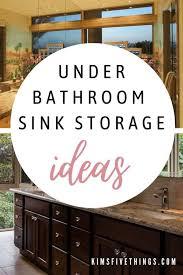 10 best under bathroom sink storage