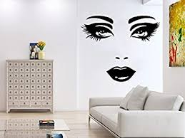 Wall Decal Face Eyes Lips Girl S Face Vinyl Sticker Decals Home Decor Bedroom Art Design Interior Ns554 Amazon Com