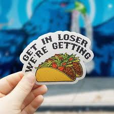 Taco Sticker Includes Two 2 Stickers Tacos Vinyl Stickers Cute Stickers Hydroflask Sticker Lapt Vinyl Stickers Laptop Hydroflask Stickers Cute Stickers