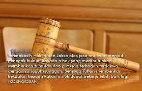 kata bijak hakim jaksa yang adil untuk caption dan status