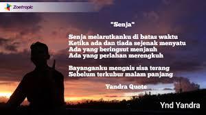 yandra quote senja