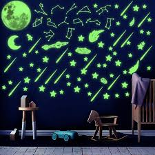 Amazon Com Watinc 233pcs Glow In The Dark Stickers Constellations Planets Sticker Glowing Shooting Stars Jumbo Moon For Ceiling Kids Room Wall Decals Decorations For Halloween Party Birthday Gift For Girls Boys Arts
